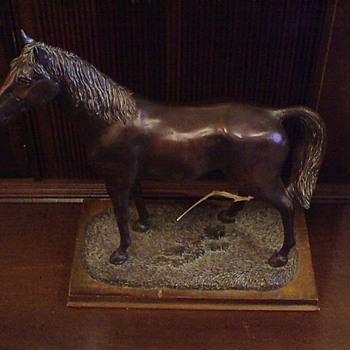 Spelter/Bronze Horse Statue