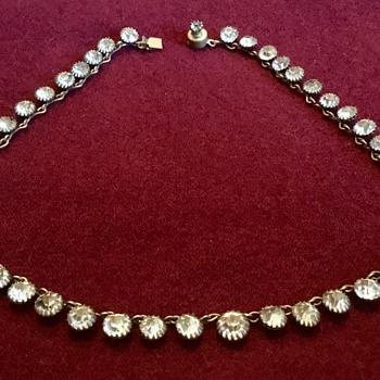 Georgian Rivière Silver Gilt Paste Necklace?