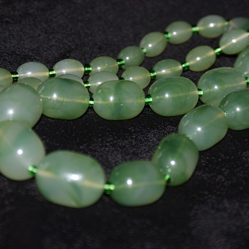 Unusual Plastic/Bakelite Wood Necklace - Costume Jewelry