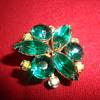 Gorgeous green brooch