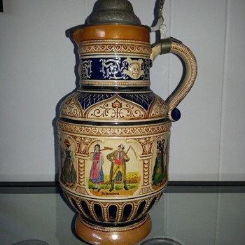 German beer stein pitcher
