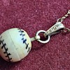 Antique Carved Bone Baseball Charm