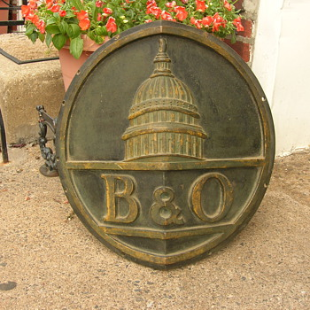 My B&O Train Engine Plaque - Railroadiana