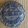 VINTAGE USN FIRE DEPT BADGE