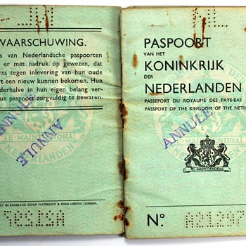 1944 Dutch passport - UK print