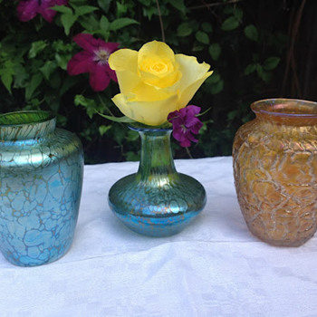 Three Little Loetz - Art Glass