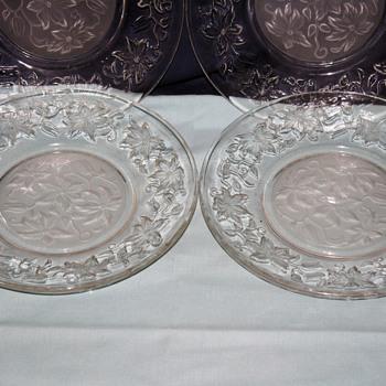beautiful cut glass plates! - Glassware