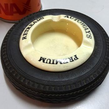 More of my tyre ashtrays - Tobacciana