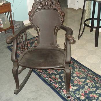 Antique Black Rocking Chair