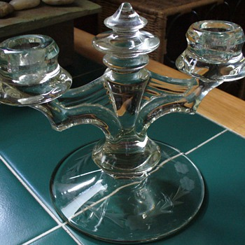 Laurel Depression Candlestick - Glassware