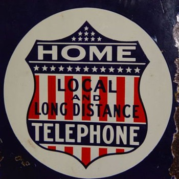 Home Telephone Local and Long Distance - Signs