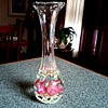 St. Clair Glass Paperweight Vase / Floral Design with Controlled Air Bubbles / Circa 1960