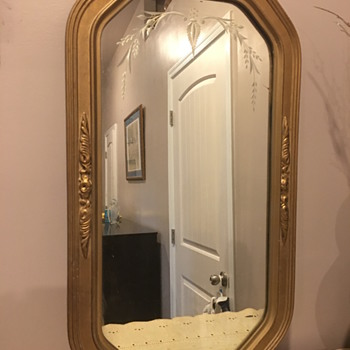 Art Deco? gesso and wood gilt mirror - Furniture