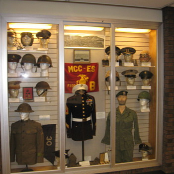Veterans Day display I had on public display at our Library... - Military and Wartime