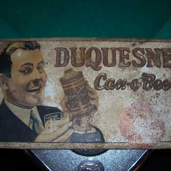 Vintage DUQUESNE  CAN-O-BEER SIGN - Breweriana
