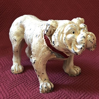 Vintage Cold Painted Spelter Bulldog - Animals