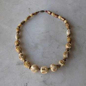 Newest find - celluloid necklace - Redo to 1930's style - Costume Jewelry