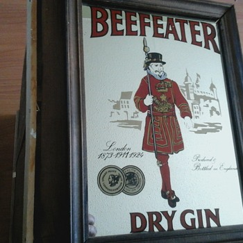 Beefeater Dry Gin Mirror  - Advertising