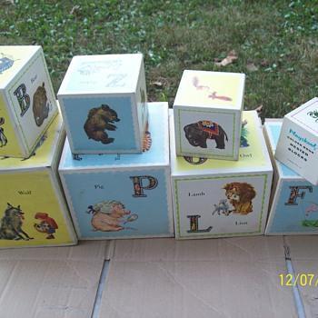 Vintage wooden Playskool Nested Blocks - Toys