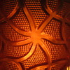 Marigold Carnival Glass w/ Lattice Weave 4-1/4 by 2-3/8