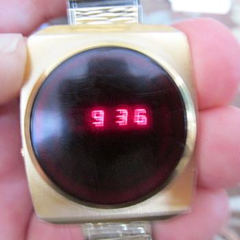 retro cool Benrus LED watch