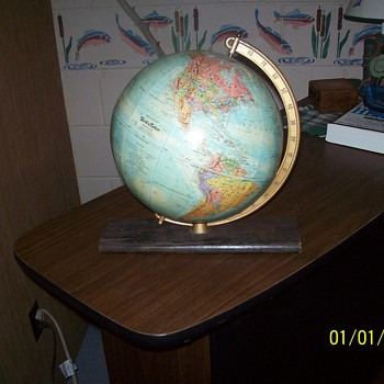 Vintage Desk Globe from the 1960's. - Office