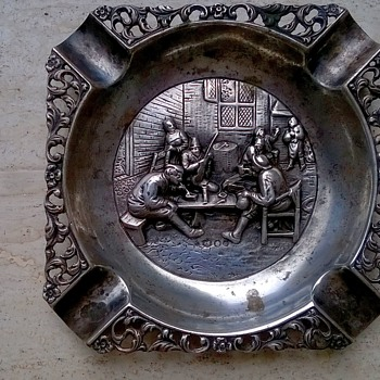 Vintage Silver Ashtray Thrift Shop Find 50 Cents - Tobacciana