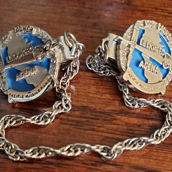 Lockheed Agena sweater pins - Military and Wartime