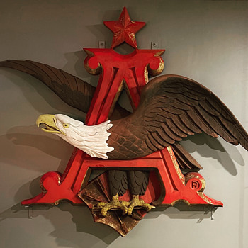 Anheuser Busch Eagle Sign  - Breweriana