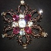 Scitarelli star flower brooch or pendant