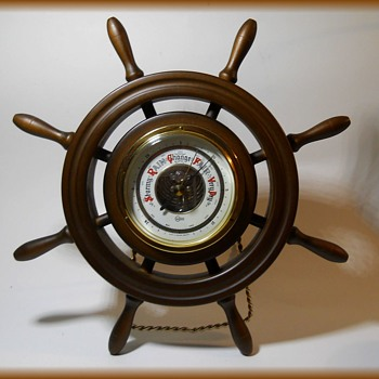 West Germany Barometer - Ship's Wheel ( 1970's ) - Tools and Hardware