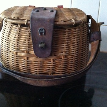 1970's Aigner Fish Tackle Basket Purse