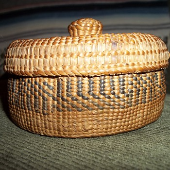 Alaskan Haida Knob Top Basket - Native American
