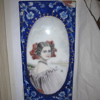 Enamel Copper Dish Plate English Portrait - China and Dinnerware