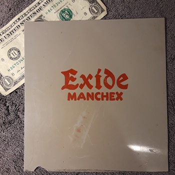 EXIDE MANCHEX auto battery (?) plastic sign (?) panel - Advertising