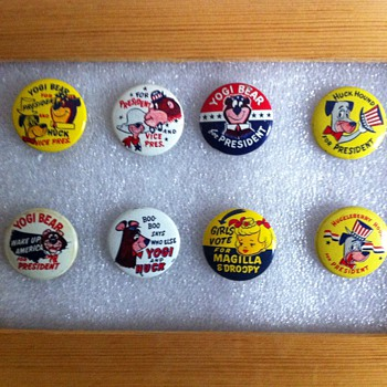 Gumball machine pinback favourites