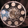 """United States Glass #15005 """"Silver Age"""" (U.S. Coin) Cake Stand c1892"""