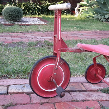 1950s ? Childs red tricycle  - Toys