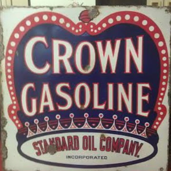 Crown Gasoline Sign - Petroliana