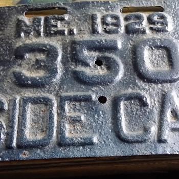 maine sidecar plate 1929 - Classic Cars