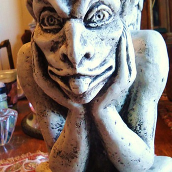 """Spitting Gargoyle"" of Notre Dame  Gargoyles keep evil away! - Pottery"