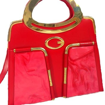 Lucite Panel Red Purse~ Any insight