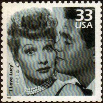 "1999 - ""I Love Lucy Show"" Postage Stamp (US)"