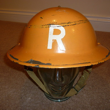 British WW11 Rescue/Gas steel helmet. Sergeant rank