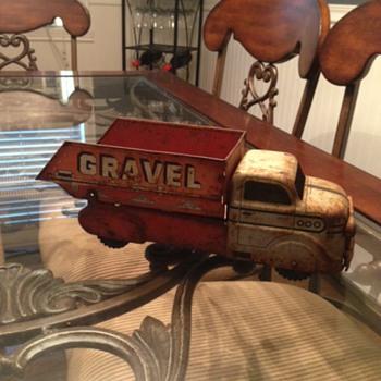 Marx Orange Gravel & Sand Truck  - Model Cars