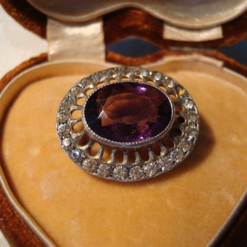 Edwardian Amethyst Brooch - Fine Jewelry