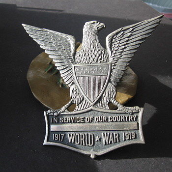 World War I Eagle emblem. - Military and Wartime