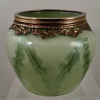 Loetz Titania Genre 4615 vase, Opal verlaufend, PN II-4615, ca. 1908 - Art Glass