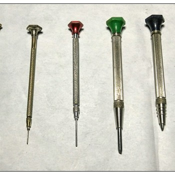 Variety of Vintage Watch/Jewelers  Screwdrivers - Clocks