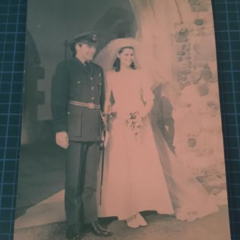 Post-WWII RAF Officer's Wedding Real Photograph  - Military and Wartime